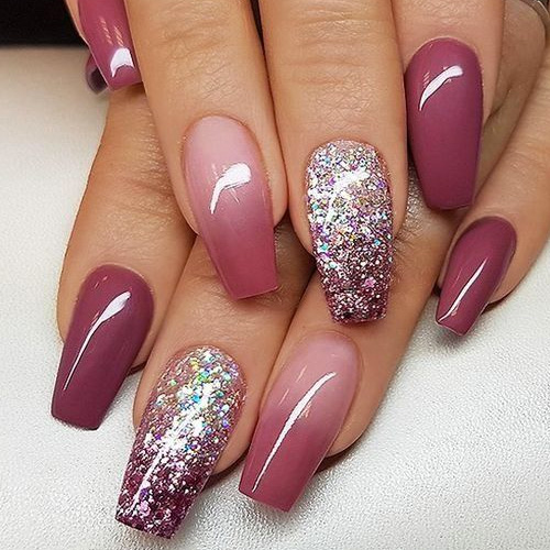 Latest HD Fall Ombre Nails 2018